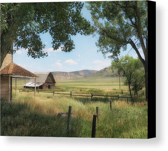 Farm Canvas Print featuring the photograph Summer Afternoon by Alison Sherrow I AgedPage