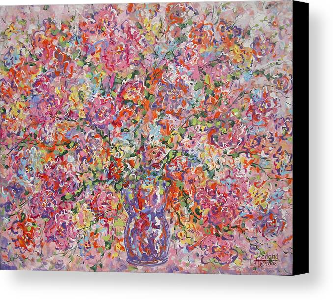 Painting Canvas Print featuring the painting Summer Flowers by Leonard Holland