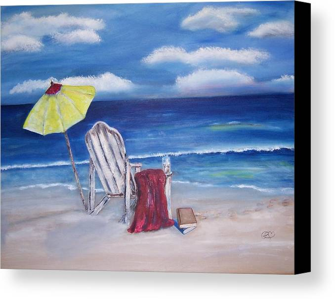 Landscape Canvas Print featuring the painting Summers Dream by Penny Everhart