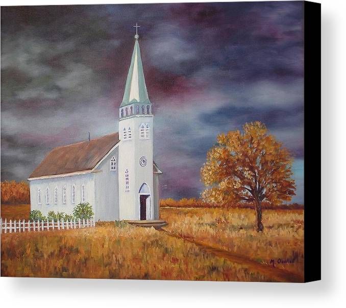 Landscape Canvas Print featuring the painting Sunday Go To Meetin' by Maxine Ouellet