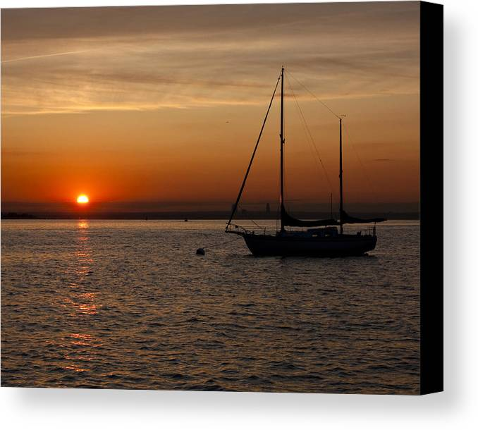 Sun Canvas Print featuring the photograph Sunset 504 by Arthur Sa