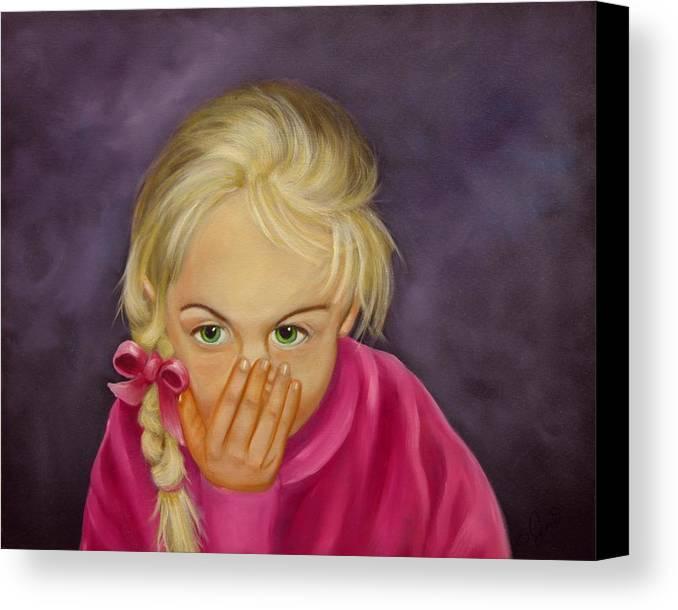 Portrait Canvas Print featuring the painting Surprise by Joni McPherson