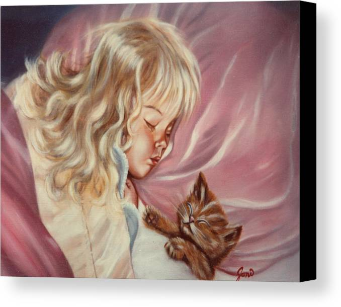 Portrait Canvas Print featuring the painting Sweet Dreams by Joni McPherson
