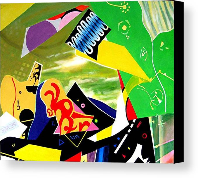 Symbolic Canvas Print featuring the painting Symbols by Barron Holland