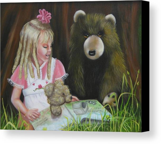 Children Canvas Print featuring the painting Teacher by Joni McPherson