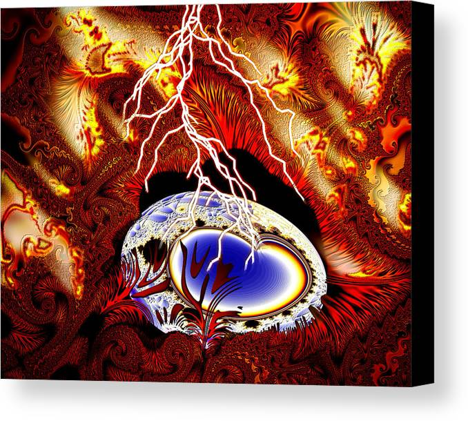 Earth Canvas Print featuring the digital art Terra Ovum One by Roger Soule
