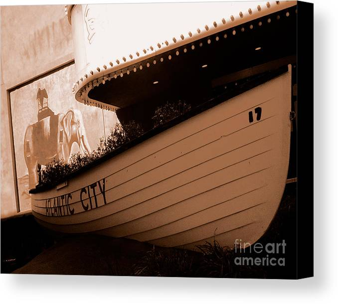 Boats Canvas Print featuring the photograph The Boardwalk by Heather Weikel