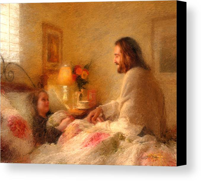 Jesus Canvas Print featuring the painting The Comforter by Greg Olsen