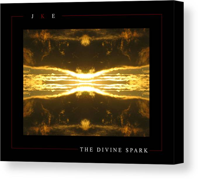 Sun Canvas Print featuring the photograph The Divine Spark by Jonathan Ellis Keys