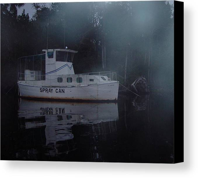 Boat Canvas Print featuring the painting The Ghost Ship by Debbie May