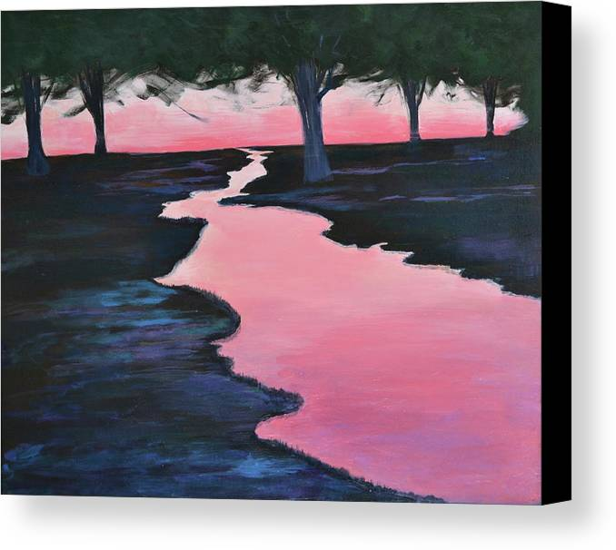 Landscape Canvas Print featuring the painting The Journey by Sheryl Sutherland