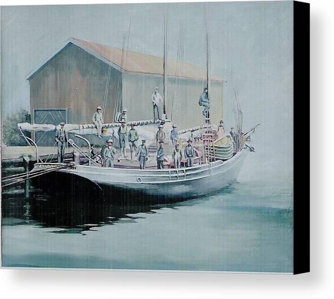 Marine Canvas Print featuring the painting The Linus 11 by Barry Smith