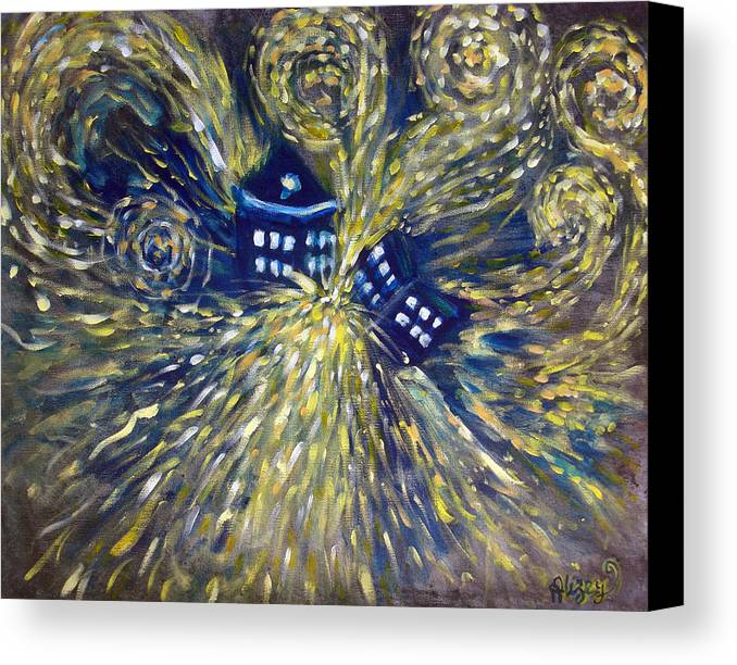 Doctor Who Canvas Print featuring the painting The Pandorica Opens by Alizey Khan