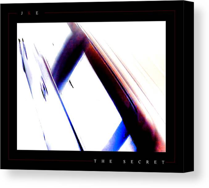 Abstract Canvas Print featuring the photograph The Secret by Jonathan Ellis Keys