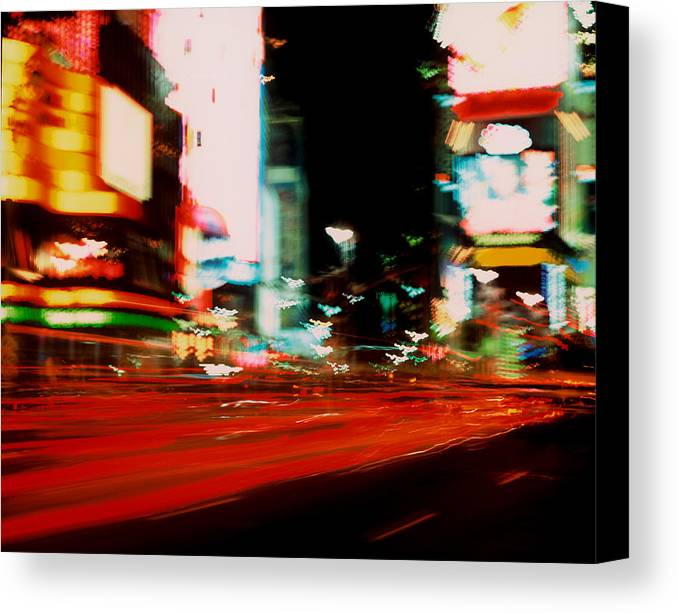 Light Canvas Print featuring the photograph Times Square Painted by Brad Rickerby