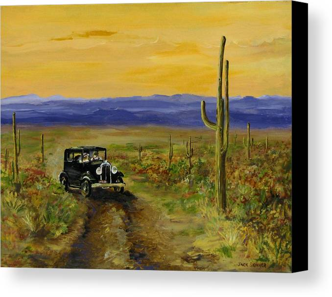 Desert Canvas Print featuring the painting Touring Arizona by Jack Skinner