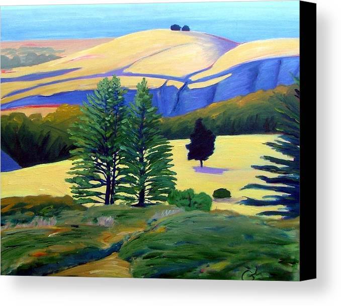Landscape Canvas Print featuring the painting Transitions by Gary Coleman