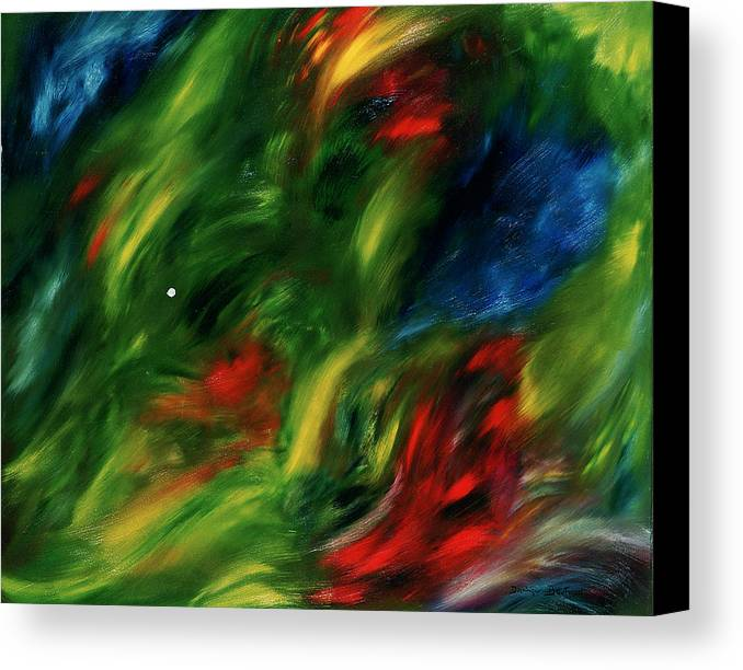 Abstract Canvas Print featuring the painting Trepidation De La Vie by Dominique Boutaud