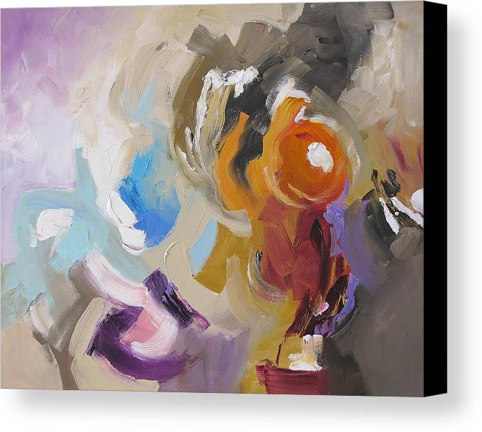 Original Canvas Print featuring the painting Triumphant by Linda Monfort