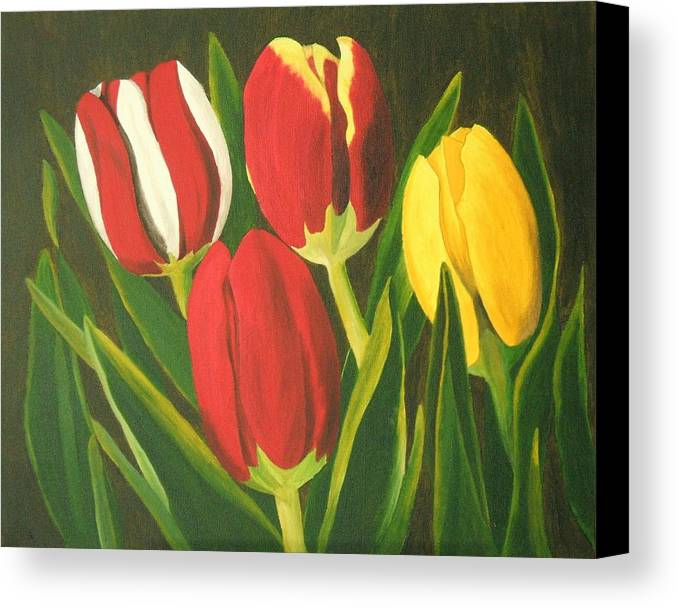 Tulips Canvas Print featuring the painting Tulip Time by Brandy House