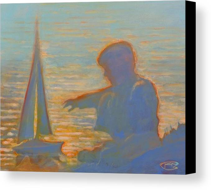 Portrait Canvas Print featuring the painting Twilight Sailor by Kip Decker