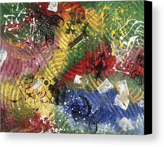 Abstract Canvas Print featuring the painting Une Visite Vous Convaincra by Dominique Boutaud
