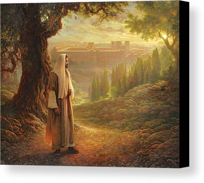 Jesus Canvas Print featuring the painting Wherever He Leads Me by Greg Olsen