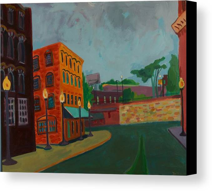 Cityscape Canvas Print featuring the painting Wingate Street by Debra Bretton Robinson