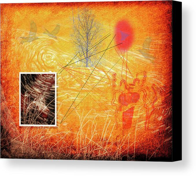 Woman Canvas Print featuring the painting Woman And Life by Mike Penney
