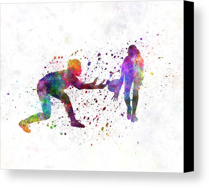 Woman Rugby 01 in watercolor by Pablo Romero