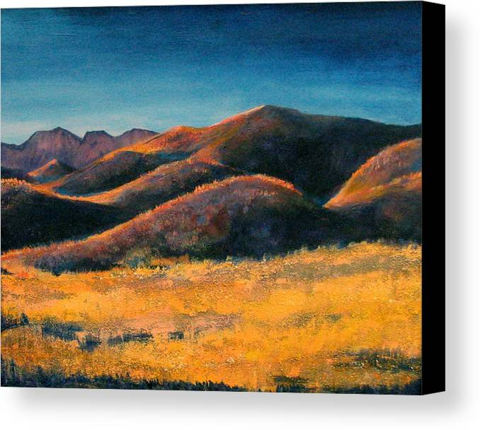 Art Nomad Canvas Print featuring the painting Yuma Lady by Art Nomad Sandra Hansen
