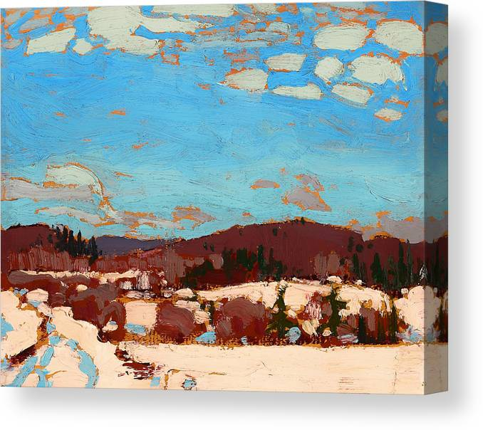 Painting Canvas Print featuring the painting Early Spring by Mountain Dreams