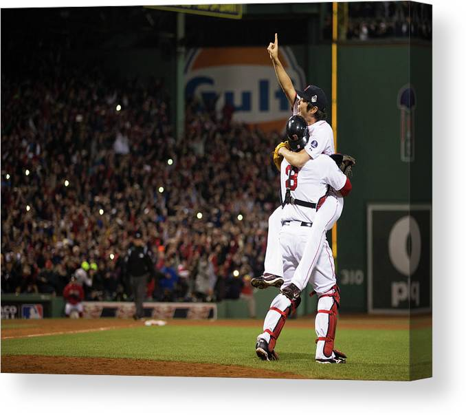 Playoffs Canvas Print featuring the photograph 2013 World Series Game 6 St. Louis 2 by Brad Mangin