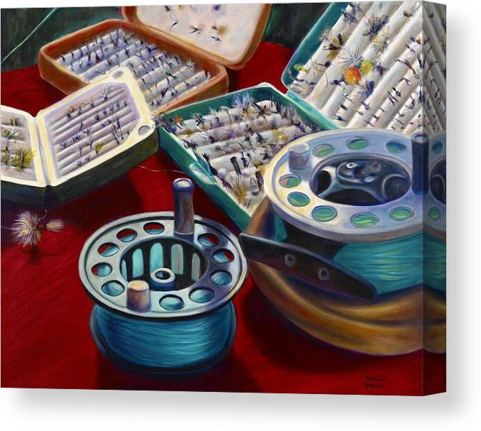 Still Life Canvas Print featuring the painting A Howard Runs Through It by Shannon Grissom