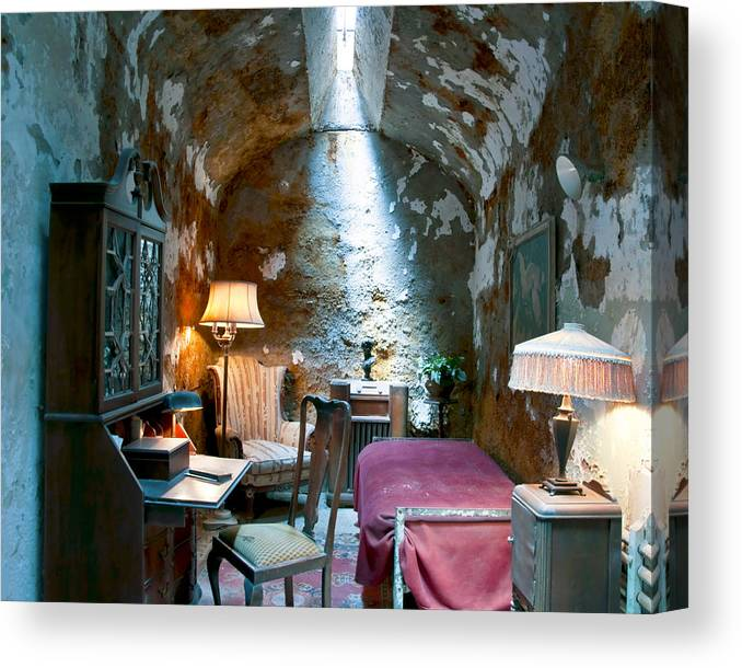 Al Capone Canvas Print featuring the photograph Al Capone's Cell by Patrick Meek
