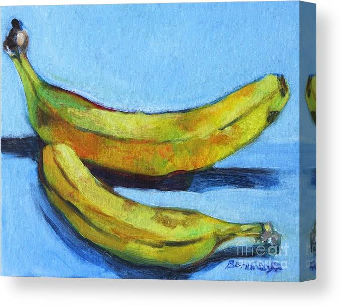Fruit Canvas Print featuring the painting Bananas by Jan Bennicoff