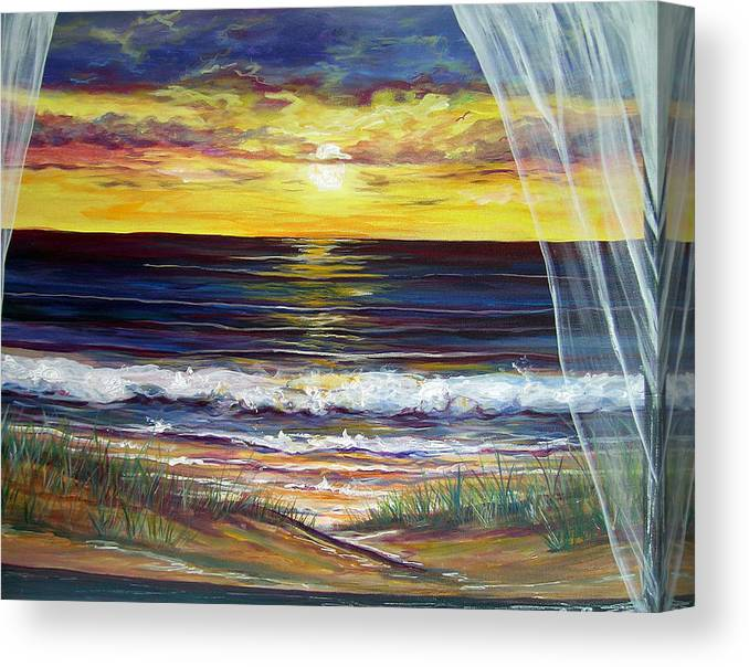 Coastal Canvas Print featuring the painting Breezy May by Dawn Gray Moraga