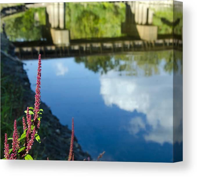 Bridge Canvas Print featuring the photograph Bridge Reflection by Shane McCallister