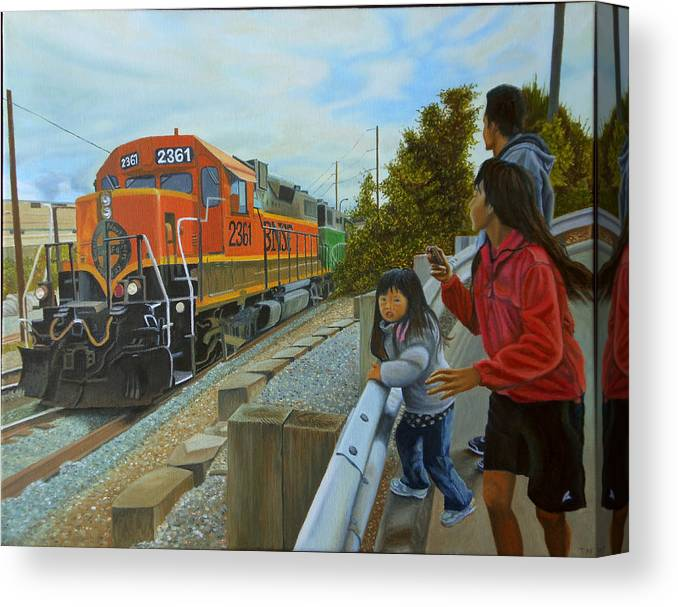 Canvas Santa Fe >> Burlington Northern Santa Fe Canvas Print Canvas Art By Thu Nguyen