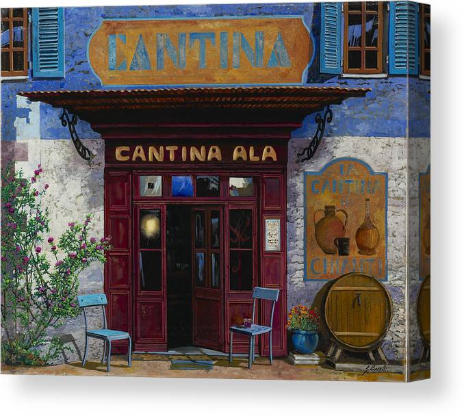 Cantina Canvas Print featuring the painting cantina Ala by Guido Borelli