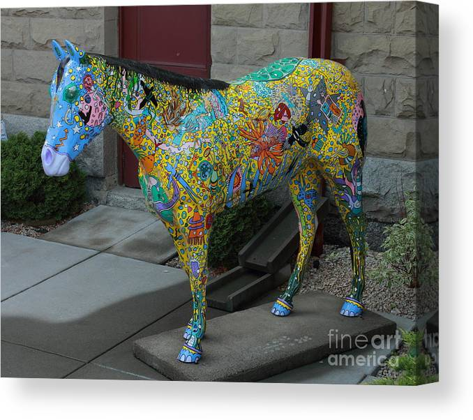 Wild Horses Canvas Print featuring the photograph Carl by Rod Giffels