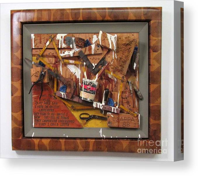 Czappa Canvas Print featuring the relief Carpenters Lament #15 by Bill Czappa