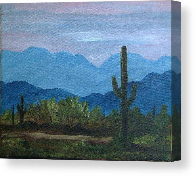 Desert Canvas Print featuring the painting Desert Evening by Judi Pence
