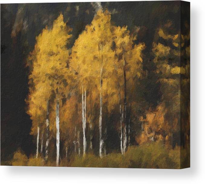 Fall Canvas Print featuring the painting Fall Colors In Washington Cascades by Paddrick Mackin