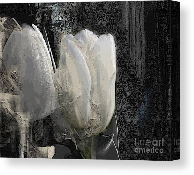 Tulip Canvas Print featuring the painting Ice Tulip by Airton Sobreira