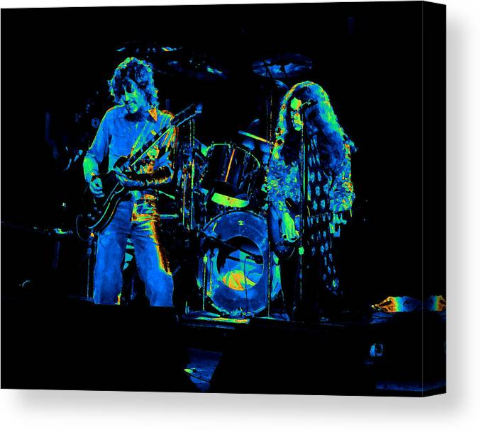 Lynyrd Skynyrd Canvas Print featuring the photograph Ls Spo #33 Enhanced In Cosmicolors by Ben Upham