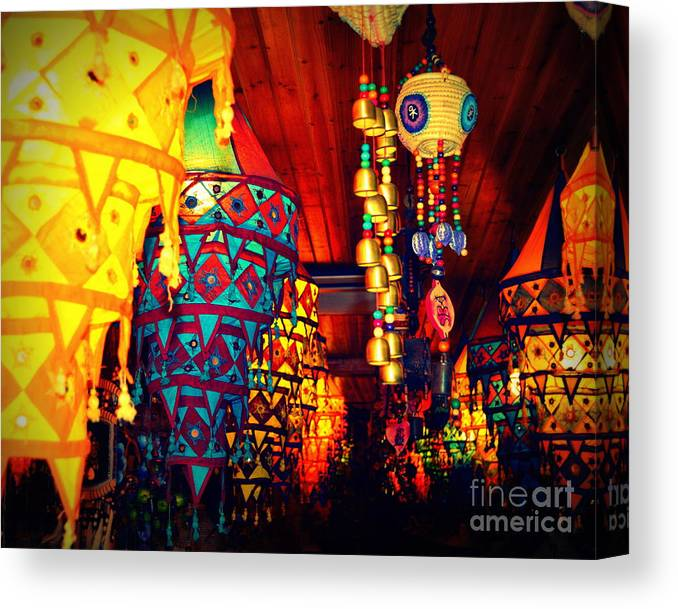 Lanterns Canvas Print featuring the photograph Never Ending Colors by Shawna Gibson