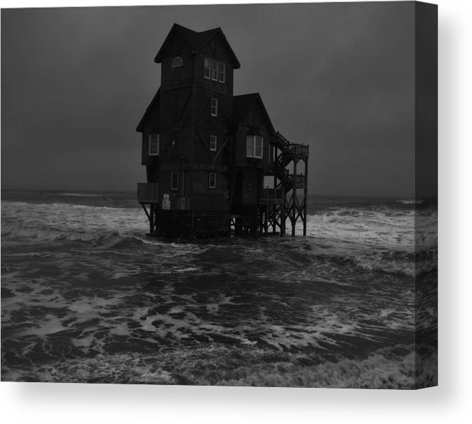Mark Lemmon Cape Hatteras Nc The Outer Banks Photographer Subjects From Canvas Print featuring the photograph Nights In Rodanthe Movie Serendipity House  by Mark Lemmon