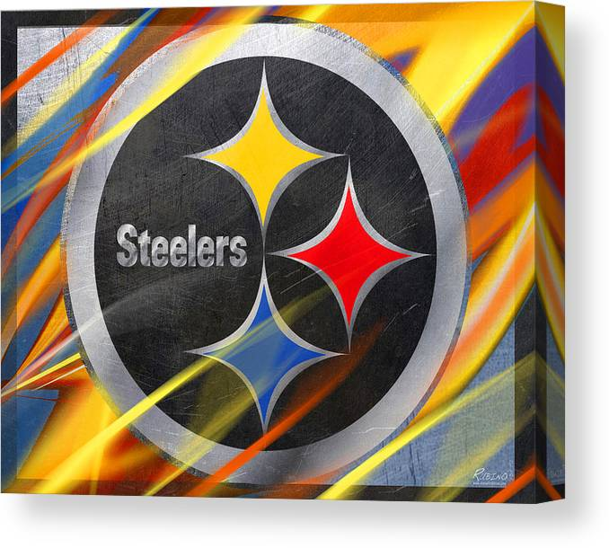9850540aa87 Pittsburgh Steelers Football Canvas Print / Canvas Art by Tony Rubino