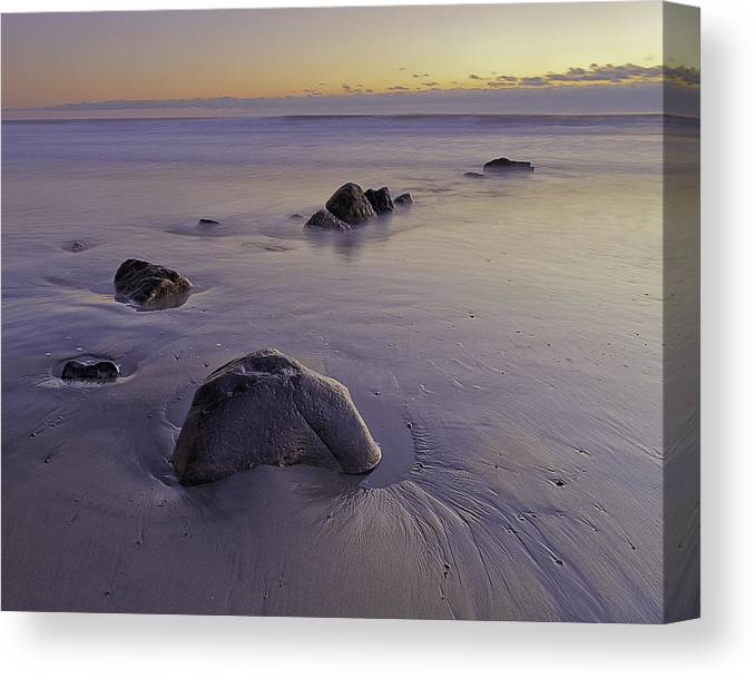 New England Canvas Print featuring the photograph Purple Sunrise Rye Beach by Scott Snyder